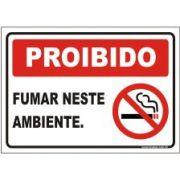 Proibido fumar neste ambiente