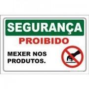 proibido mexer nos produtos