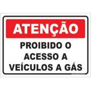 Proibido o Acesso a Veículos a Gás