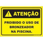 Proibido o Uso de Bronzeador Na Piscina