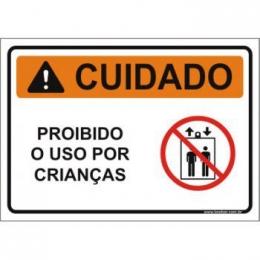 Proibido o uso por crianças