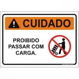 proibido passar com carga