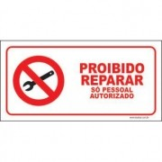 Proibido reparar só pessoal autorizado