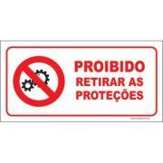 Proibido retirar as proteções