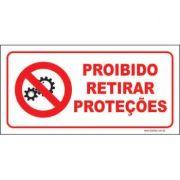 Proibido retirar proteções