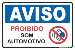 Proibido som automotivo