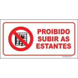 Proibido subir as estantes