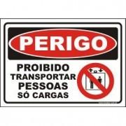 Proibido transportar correias