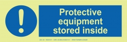 Protective Equipment Stored Inside