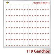 Quadro claviculário para 119 chaves