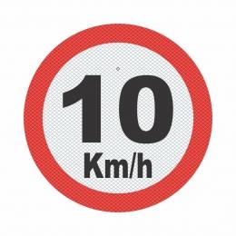 R-19_1 - VELOCIDADE MÁXIMA PERMITIDA - 10 Kmh