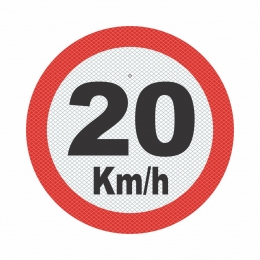 R-19_2 - VELOCIDADE MÁXIMA PERMITIDA - 20 Kmh