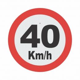 R-19_3 - VELOCIDADE MÁXIMA PERMITIDA - 40 Kmh
