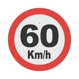 R-19_4 - VELOCIDADE MÁXIMA PERMITIDA - 60 Kmh
