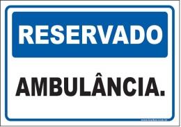 Reservado ambulância