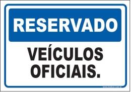 Reservado veículos oficiais