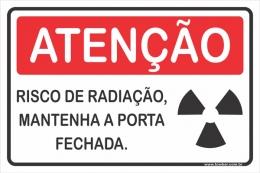 Risco de Radiação Manter a Porta Fechada Durante