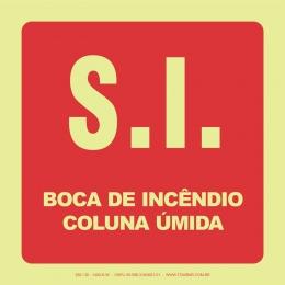 S.I. Boca de Incêndio - Coluna Úmida