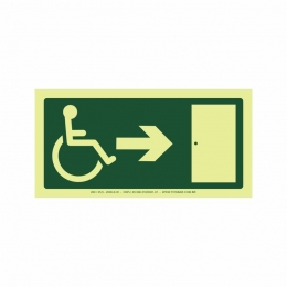 Saída a direita acessível