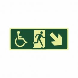 Saída a direita acessível abaixo