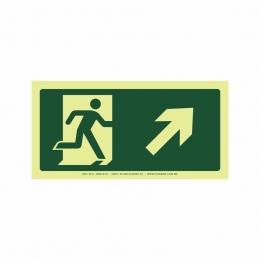 Saída a direita acima