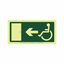 Saída a esquerda acessível