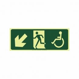 Saída a esquerda acessível abaixo