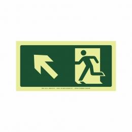 Saída a esquerda acima