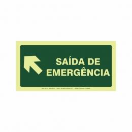 Saída de emergência a esquerda
