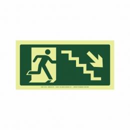 Saída escada direita abaixo