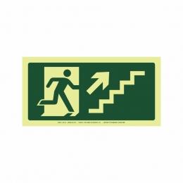 Saída escada direita acima