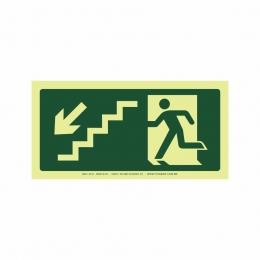 Saída escada esquerda abaixo