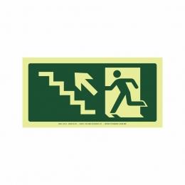 Saída escada esquerda acima