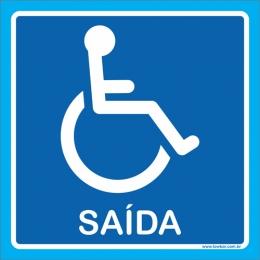 placa saída para cadeirante