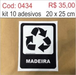 Saldão - Adesivo Lixo Madeira