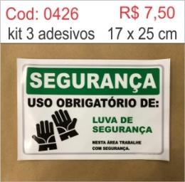 Saldão - Adesivo Uso Obrigatório de Luvas de Segurança