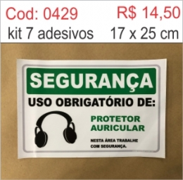 Saldão - Adesivo Uso Obrigatório de Protetor Auricular