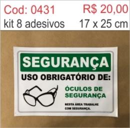Saldão - Adesivo Uso Obrigatório de óculos de segurança