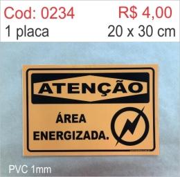Saldão - Placa Atenção - Área Energizada
