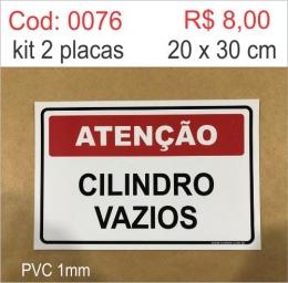 Saldão - Placa Atenção - Cilindro Vazios
