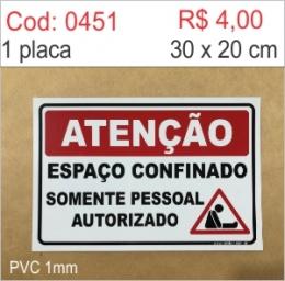 Saldão - Placa Atenção - Espaço confinado