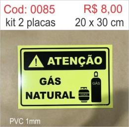 Saldão - Placa Atenção - Gás Natural