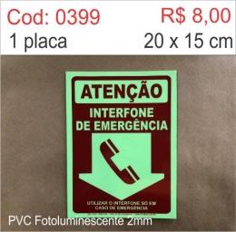 Saldão - Placa Atenção Interfone de Emergência