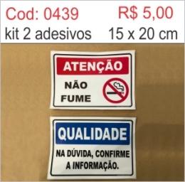 Saldão - Atenção Não fume e Qualidade na dúvida confirme a informação