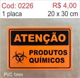 Saldão - Placa Atenção - Produtos Químicos