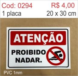Saldão - Placa Atenção - Proibido Nadar