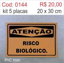 Saldão - Placa Atenção - Risco Biológico
