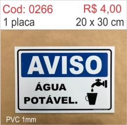 Saldão - Placa Aviso - Água Potável
