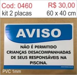 Saldão - Placa Aviso - Não é permitido crianças desacompanhadas