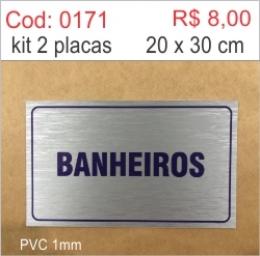 Saldão - Placa Banheiros
